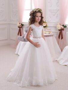 Blumenkind-Prinzessin-Kinder-Kleid-Party-Ball-Hochzeit-Maedchen-Kommunion-BC659