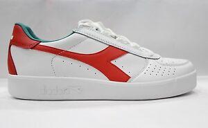 Diadora Borg Elite Scarpe Shoes Sneakers bassa Unisex Bianco Azzurro