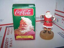 VINTAGE COCA-COLA FIGURINE SANTA CLAUS ITEM 36037 CHRISTMAS COLLECTIBLE BOX 1989