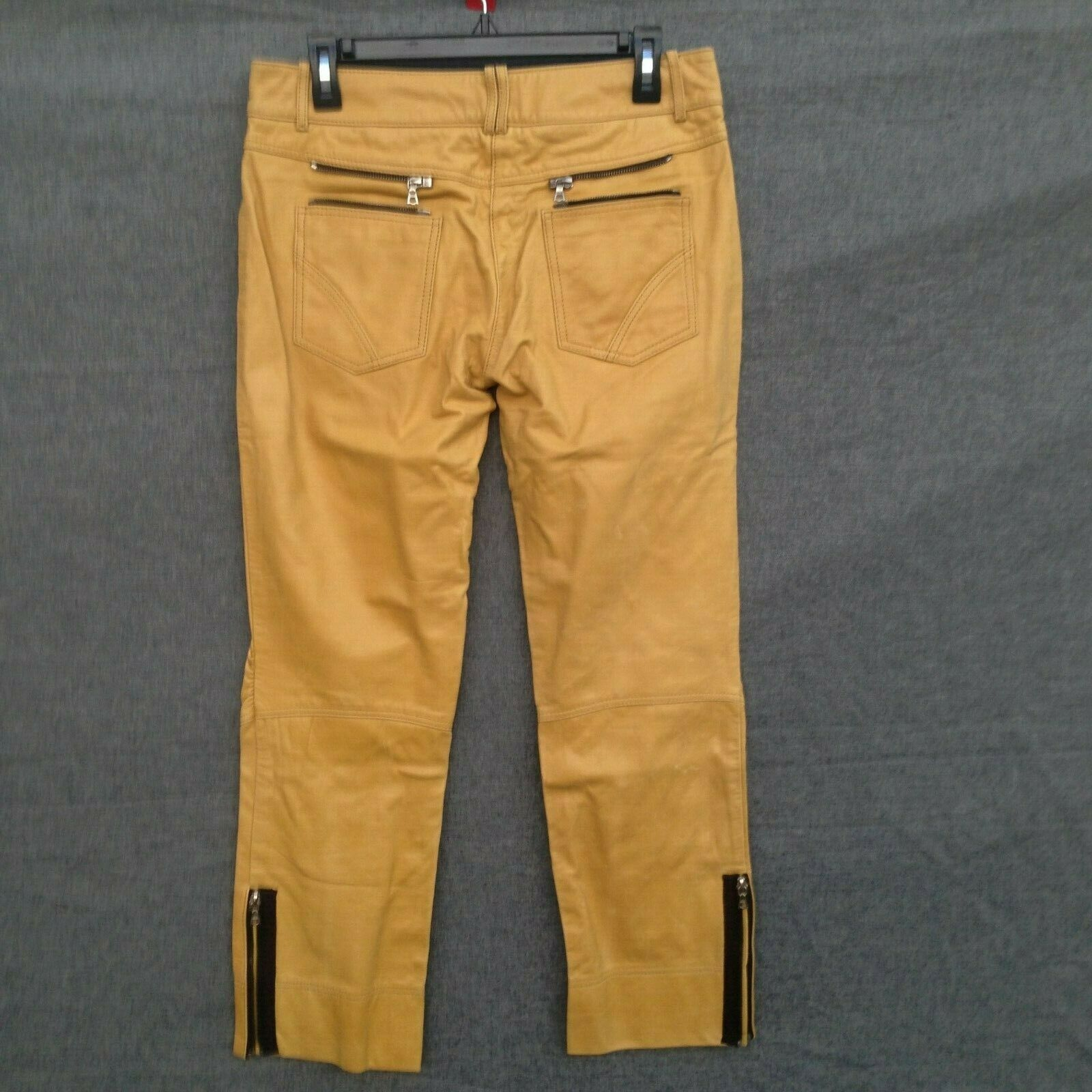 MaxAzria Leather Collection Biker pants -AMBER- Size 8 S