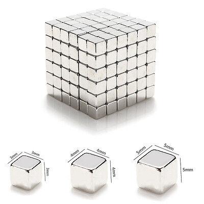 3/4/5mm 216pcs Magnet Beads Magic Balls Square 3D Puzzle Sphere Magnetic Kid Toy
