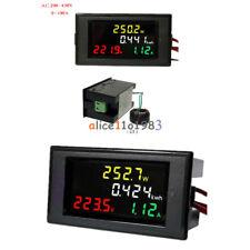 Lcd Voltmeter Ammeter Volt Amp Power Kwh Panel Meter 100a Ac 80 300v200 450v