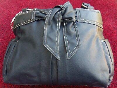 Monsoon Blue Black Large Tote Handbag