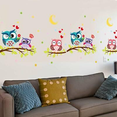 Fashion Removable Wall Sticker Animal Owl Wallpaper Waterproof Cartoon