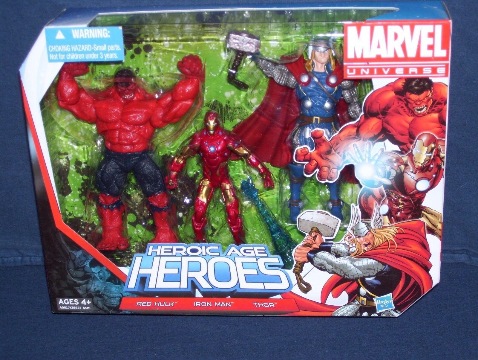 Marvel - universum 3 3   4 - heroischen alter helden nib rote hulk thor iron hasbro
