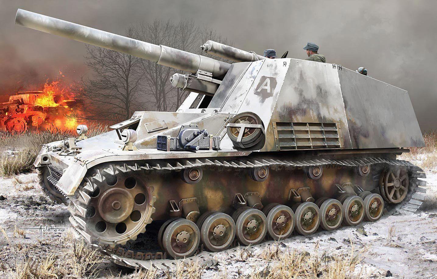 Dragon 1 3 5 6876  Solid sd.kfz.165 Hummel - with Winterketten