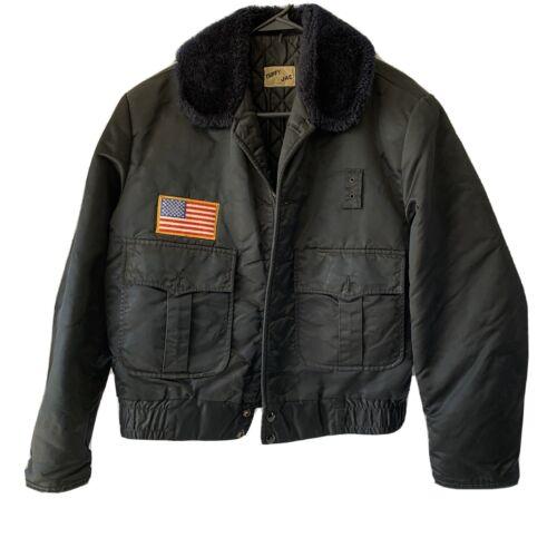 Tuffy Jacket, Bomber Style/American Flag Black