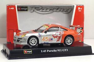 Bburago-38010-RACING-PORSCHE-911-GT3-METAL-Scala-1-43