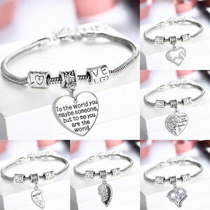 Image Is Loading Family Mother Mom Son Daughter Grandmother Bangle Bracelet