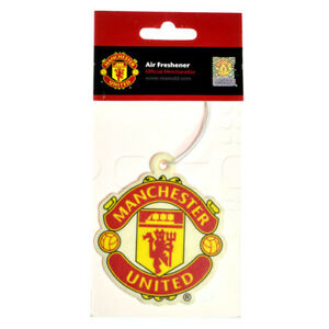 MANCHESTER-UNITED-FC-CREST-AIR-FRESHENER-CAR-ACCESSORIES-ROOM-OFFICE-XMAS-GIFT