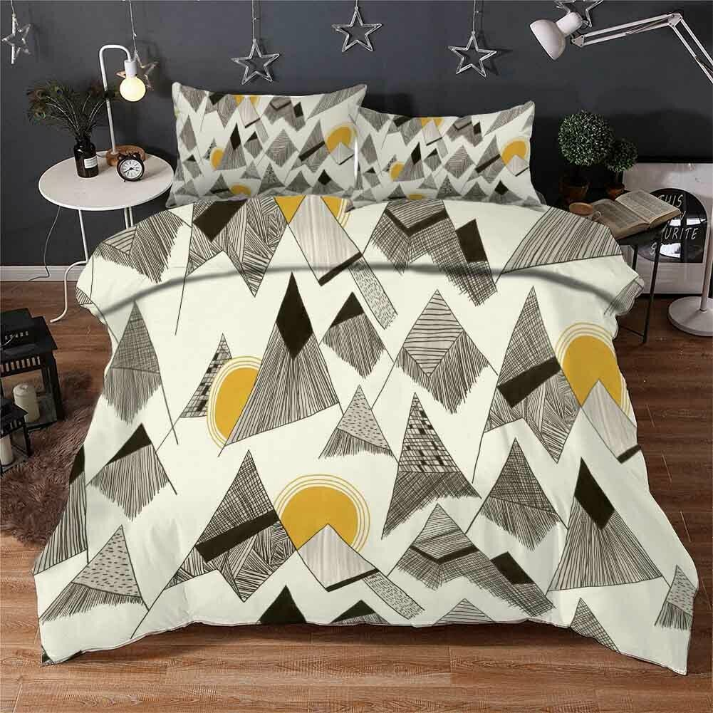 Stripe Triangle 3D Printing Duvet Quilt Doona Covers Pillow Case Bedding Sets