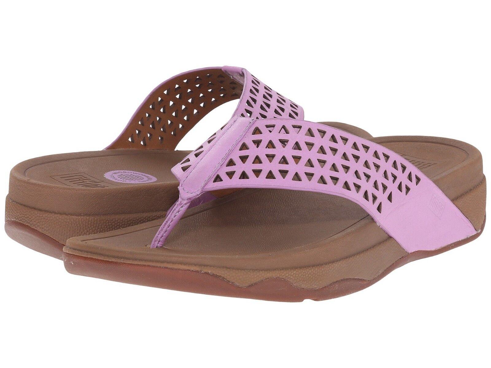 BNIB Fit Flop Surfa violetc Low Wedge Heel Toe Post Fitness Toning Sandals Sz 7 41