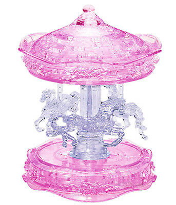 """3D PUZZLE  83 PIECES """"Merry-go-round [Pink]""""  / CRYSTAL PUZZLES / Jeruel"""