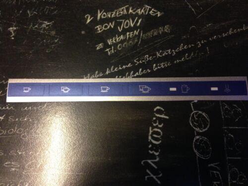Jura Impressa S9  S7 Avantgarde  XS90 XS95 Tastensymbol Aufkleber Sticker