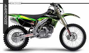 KAWASAKI KX250F KX450F 2009 2010 2011 MAXCROSS GRAPHICS KIT FULL MSP-STYLE-4
