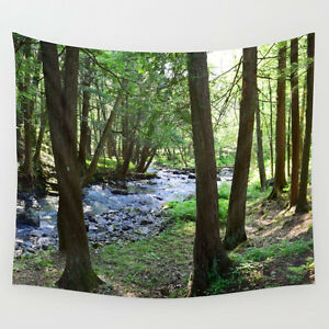 Wall-Tapestry-Wall-Hanging-Printed-in-USA-Photo-28-landscape-forest-wood-L-Dumas