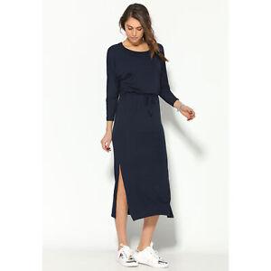 Vestido-largo-punto-manga-larga-con-cintura-elastica-mujer-012554