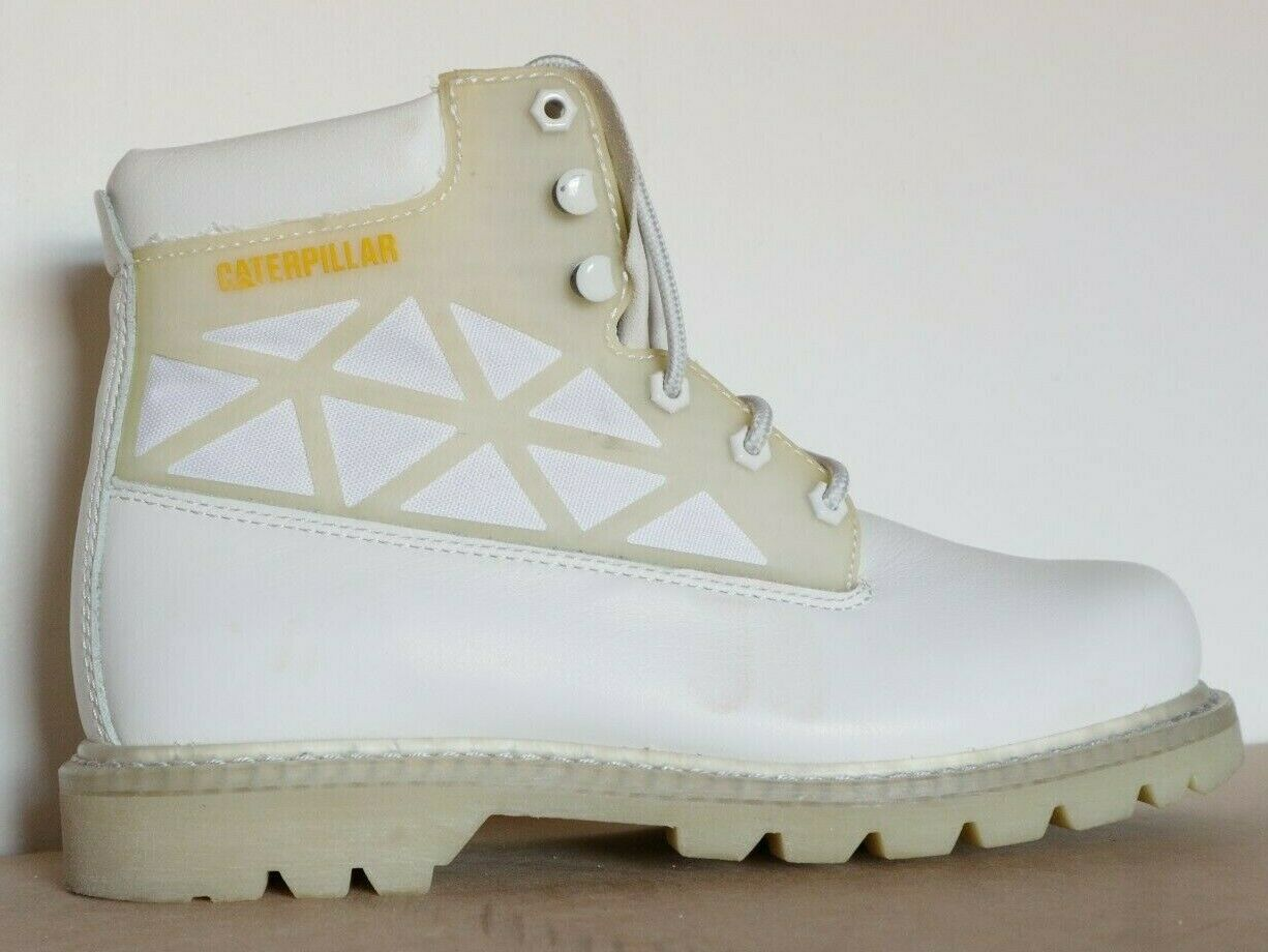 CATERPILLAR CAT MENS BEACON CASUAL LEATHER Stiefel Weiß UK 8 US 9