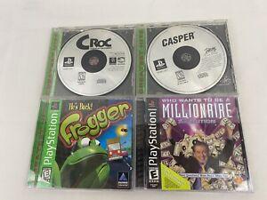 Original-PlayStation-1-Game-Lot-Of-4-Frogger-Casper-Croc-Millionaire-Tested