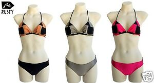 New Rusty Hearts Bikini Size 10 Two Piece Ladies Surf Swimwear Set RRP$80