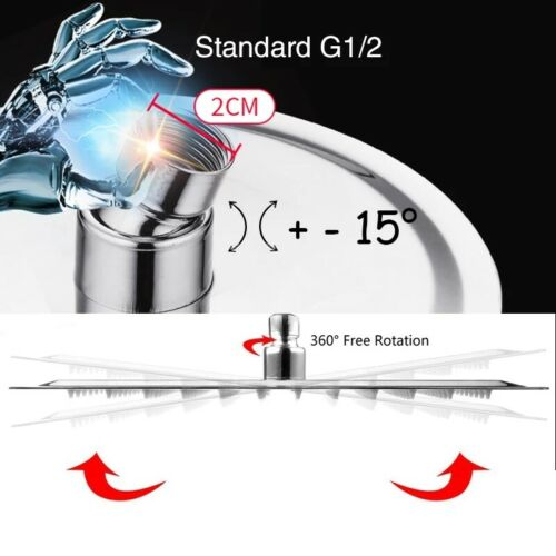 8//10//12//16 inch Rainfall Shower Head Round Square Chrome Ceiling Shower Heads