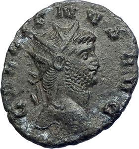 GALLIENUS-son-of-Valerian-I-267AD-Authentic-Ancient-Roman-Coin-Sol-Sun-i74250
