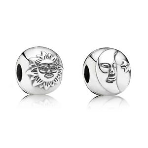New Authentic Pandora Sterling Silver Night & Day 1 Clip 791208CZ Box Included