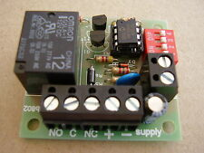 Timer relay board adjustable 1 - 10 minutes (in 1 minute steps)