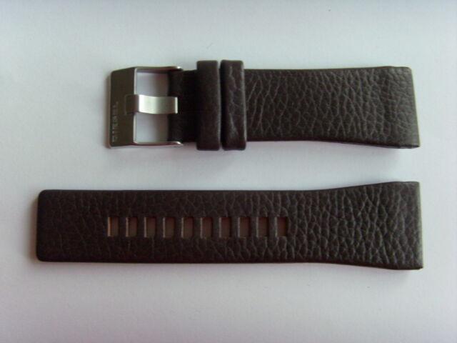 DIESEL Original Ersatzband Lederarmband DZ1113 Uhrband braun 29 mm watch strap