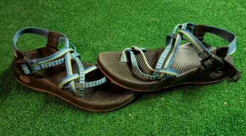 chacos blue strap sandels womens 8