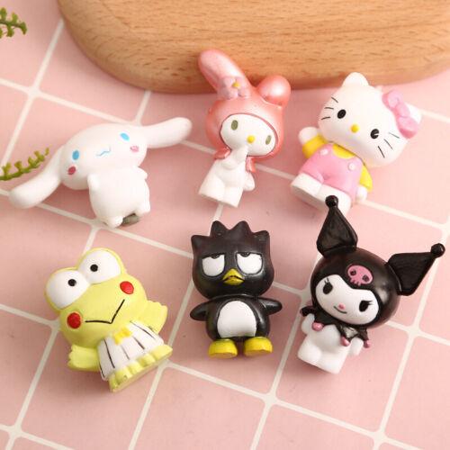 6pcs//set Cute Hello Kitty My Melody Kuromi XO Cinnamoroll Keroppi Figures Toy