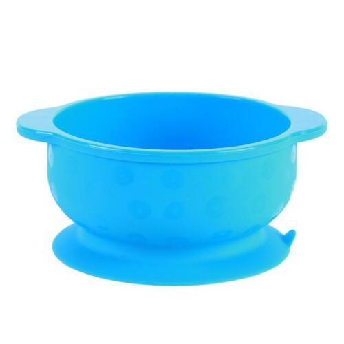 Baby Training Sucker Bowl Spoon Baby Feeding Toddler Dishes Tray  Plate FI