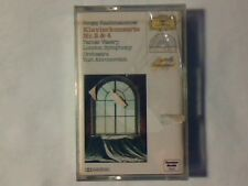 YURI AHRONOVITCH Rachmaninoff: Klavierkonzerte nr. 2&4 mc cassette k7 SIGILLATA