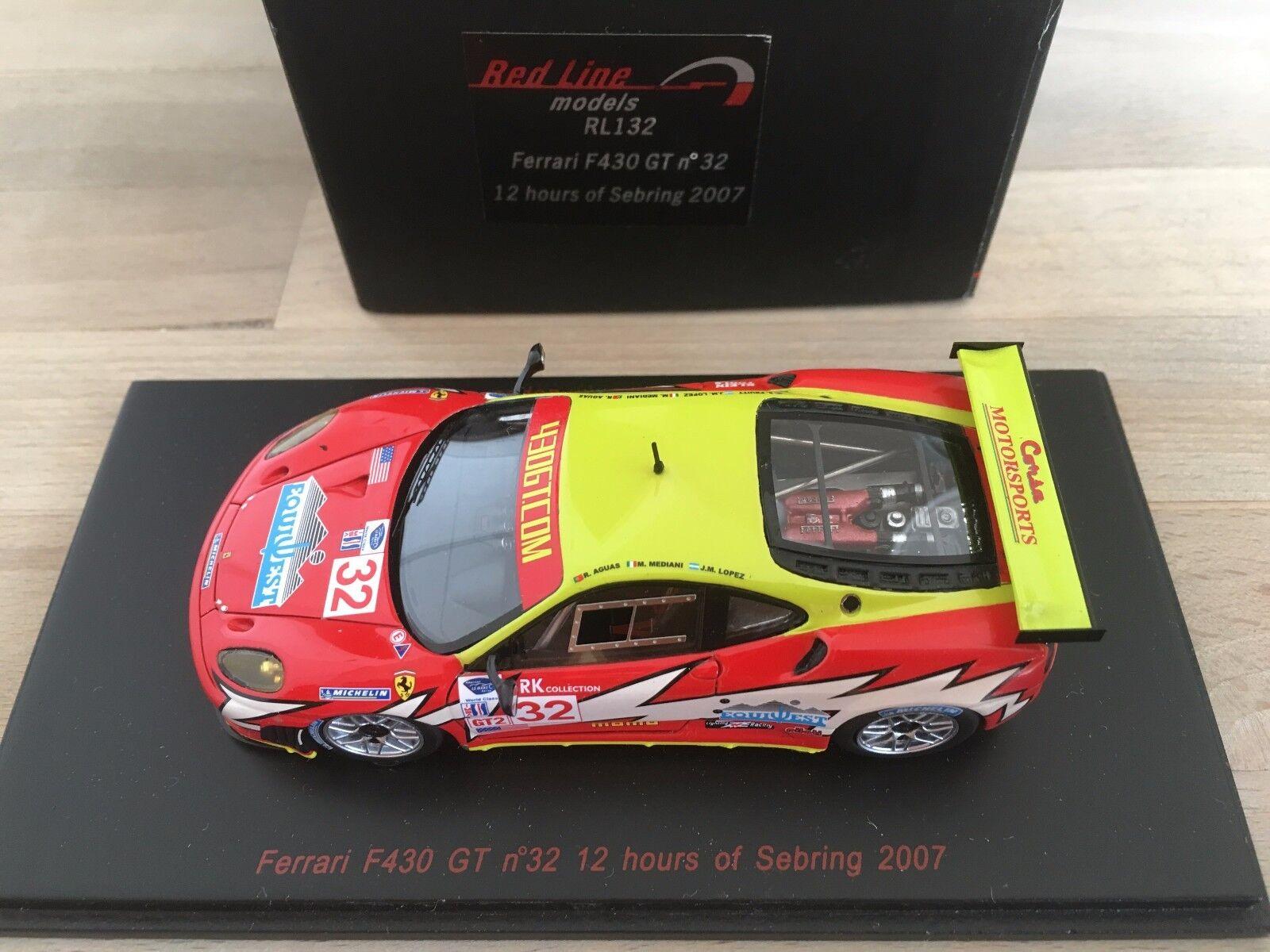 Ferrari F430 GT - 12h de Sebbague 2007  - rouge Line 1 43°  approvisionnement direct des fabricants