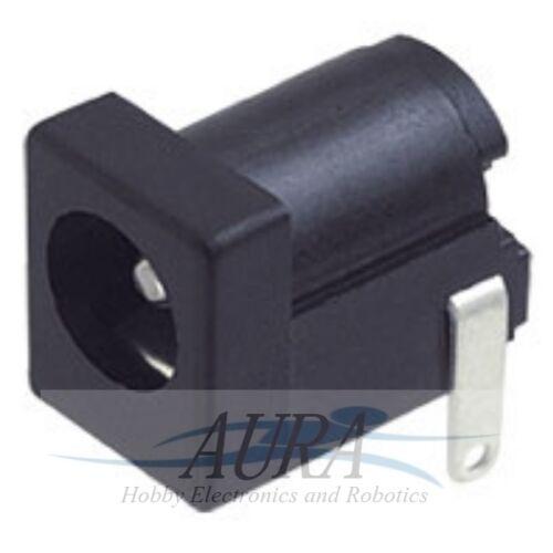 5.5mm x 2.1mm 12v DC pcb socket female square audio CCTV LED Arduino UK     A803