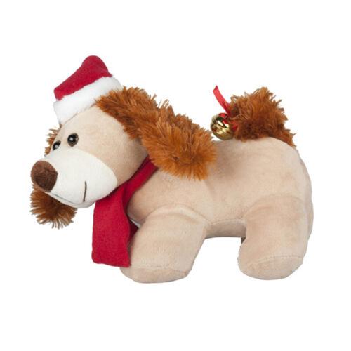 Hund schwanzwedelnd ohrenwackelnd Plüsch Hund singend tanzend Weihnachten