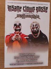 Insane Clown Posse + Mushroomhead - Glasgow nov.2017 tour concert gig poster