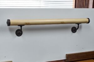Ballet Barre 40 Natural Pine Bar W Wall Mounted Brackets End