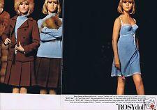 Publicité Advertising 056 1965 Rosy doll sous vêtement soutien gorge (2 pages)