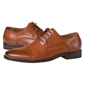 J's.o.l.e Men Dress Shoes Leather Lined Cap Toe Lace Up Oxford Latex Footbed