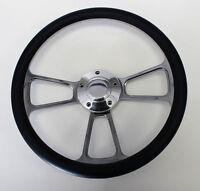 1966 Dodge Charger Navy Blue And Billet Steering Wheel 14