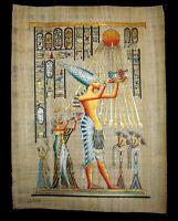 Egyptian Papyrus genuine hand painted Akhnaton