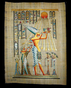 Egyptian-Papyrus-genuine-hand-painted-Akhnaton