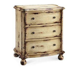 Delicieux Details About White Distressed Dresser With Drawers Wood Vintage Style Low  Chest Of Drawers