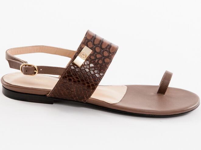 New Roberto Roberto Roberto Serpentini Brown  Leather Sandals Made in  Size 36 US 6 eb6b2e