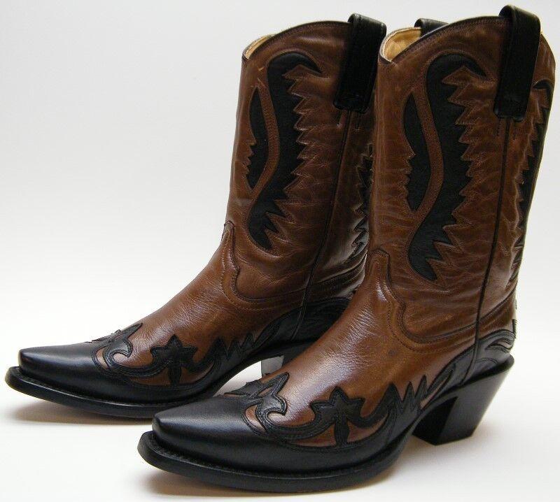 Marrón Negro Cuero Para Mujer Mujer Mujer Corral 2832 botas de vaquero occidental Incrustación Sz 7 B 7B  tienda en linea