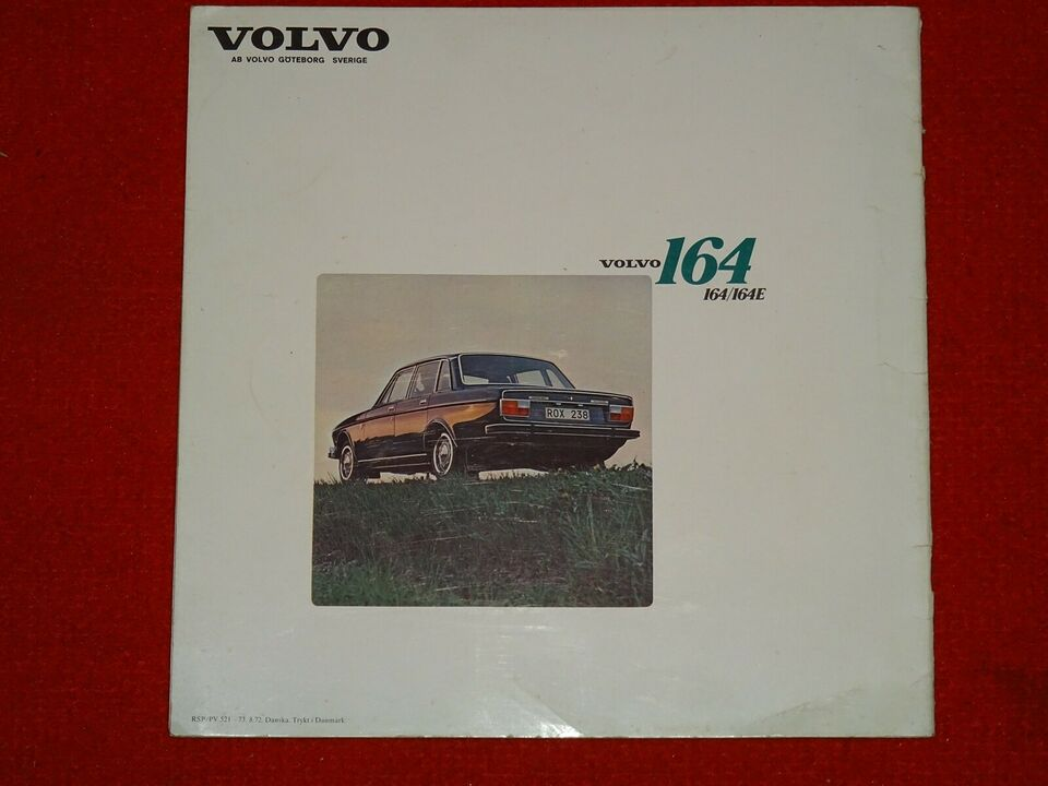 Brochure, Volvo 164/164E