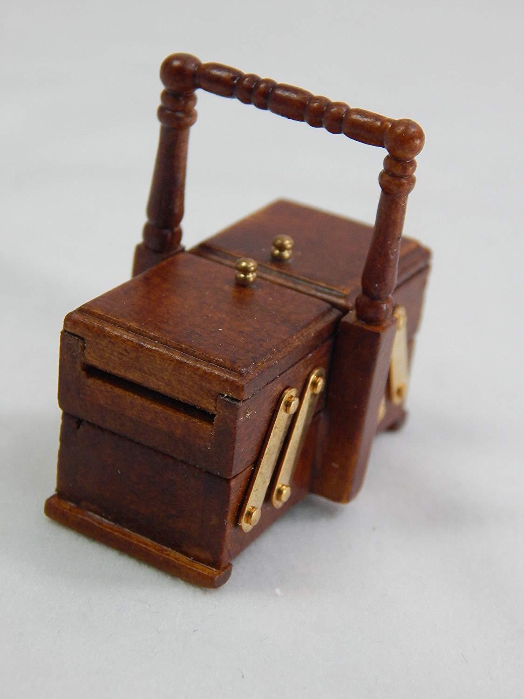 Heidi Ott Dollhouse Sewing Miniature Light 1 12 Scale Sewing Dollhouse Basket  XY202W 9b3e66