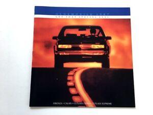 1987 Oldsmobile Olds Car Brochure Catalog Cutlass Supreme