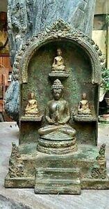 ANCIENT-JAVANESE-BRONZE-BUDDHA-SHRINE